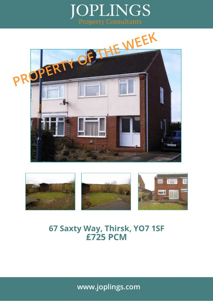 Lettings Property of the Week - 3 Bedroom Semi-Detached Property