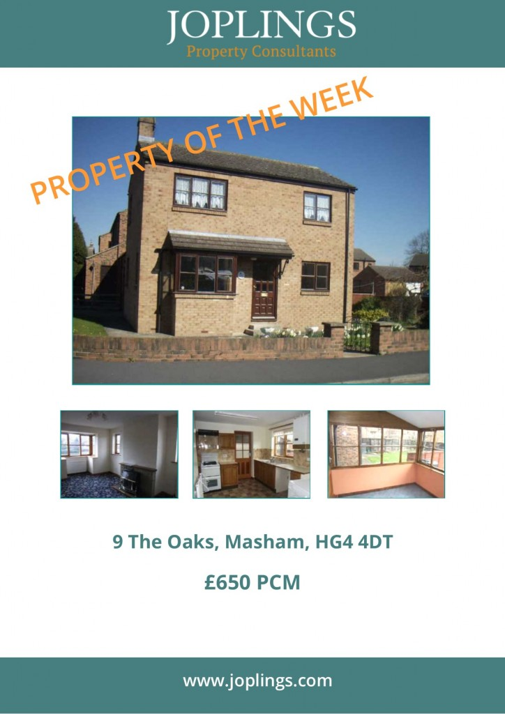 Lettings Property of the Week - 3 Bedroom linked Detached house